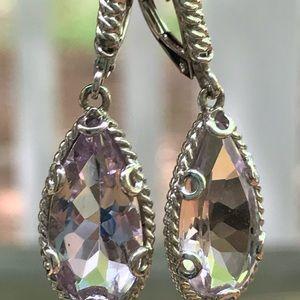 Sterling Silver Swarovski Crystal Earrings Atelier